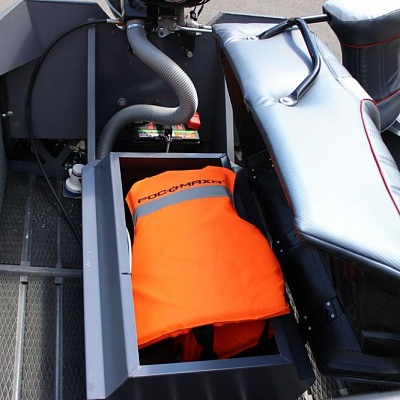 Locker of aluminum boat (motor boat, water jet boat) Rosomaha with water jet engine (motor)