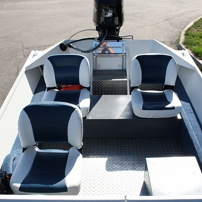 Stern platform (lockers, seats) aluminum motor boat Rosomaha 4100 with water jet engine (motor)