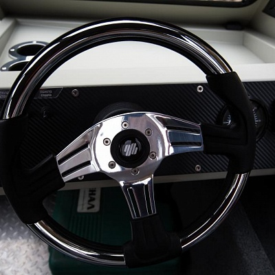 Steering wheel of aluminum water jet boat (motor boat, water jet boat) Rosomaha with water jet engine (motor)