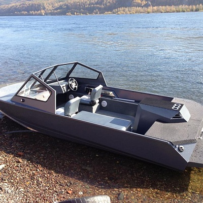 Aluminum water jet boat (motor boat, water jet boat) Rosomaha for shallow rivers ( shallow water)