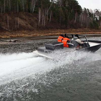 Aluminum water jet boat (motor boat, water jet boat) Rosomaha for shallow rivers(shallow water) with water jet engine (motor)