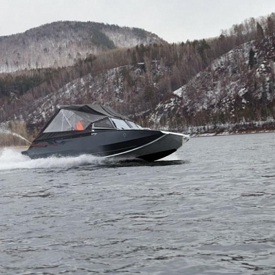 Aluminum water jet boat (motor boat, water jet boat) Rosomaha with water jet engine (motor)