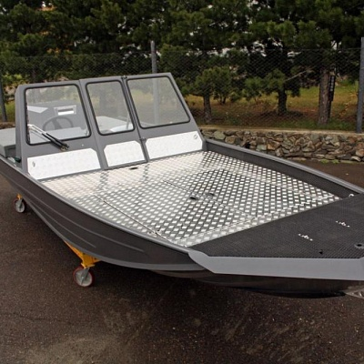 Aluminum water jet boat (motor boat, water jet boat) Rosomaha with water jet engine (motor) for shallow rivers(shallow water)